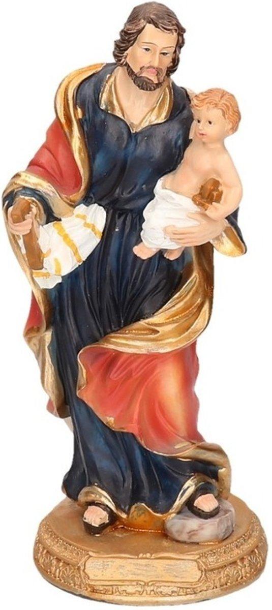 Jozef beeldje met Jezus 20 cm kopen