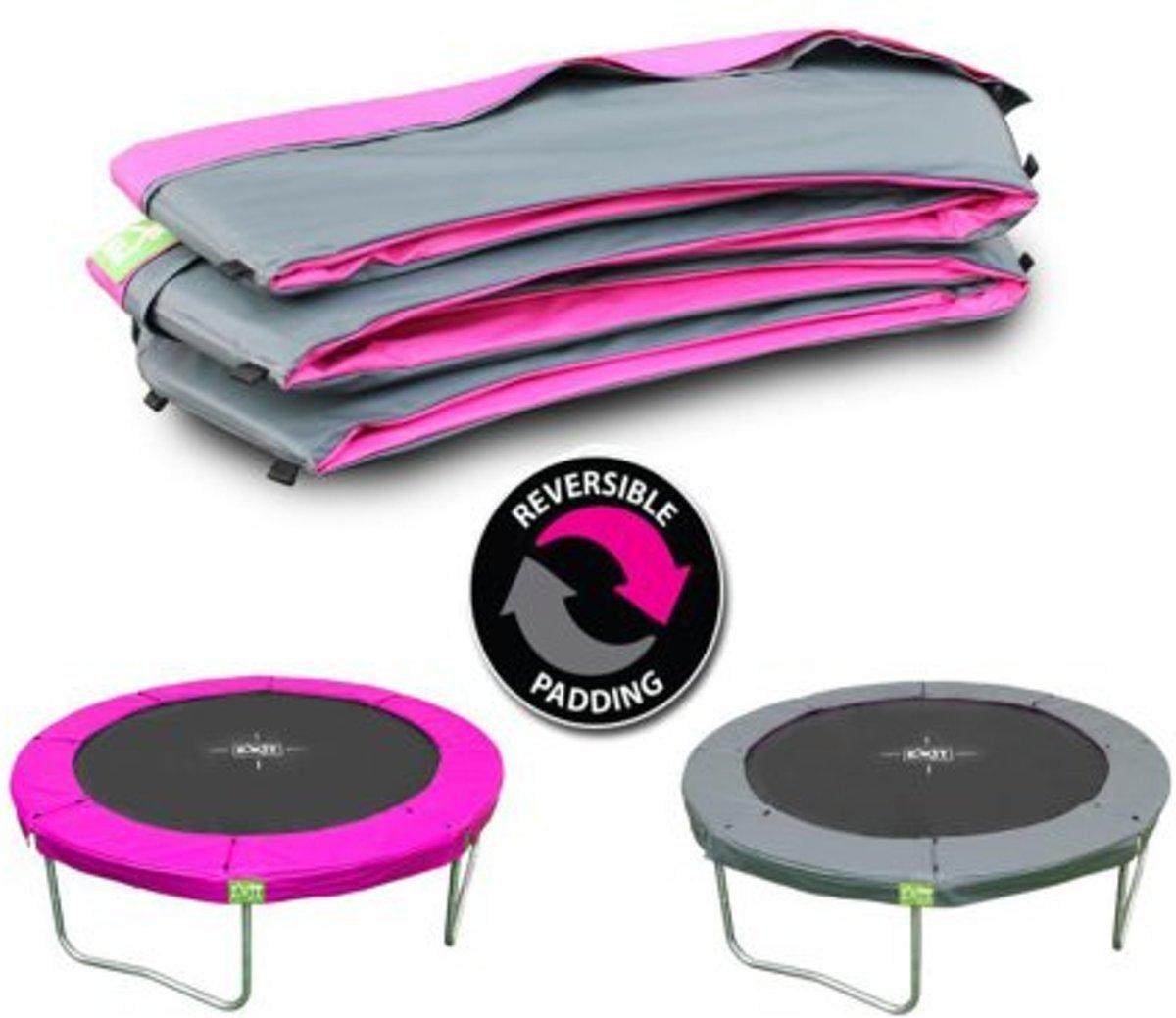 Afbeelding van product EXIT beschermrand Twist trampoline ø305cm - roze/grijs