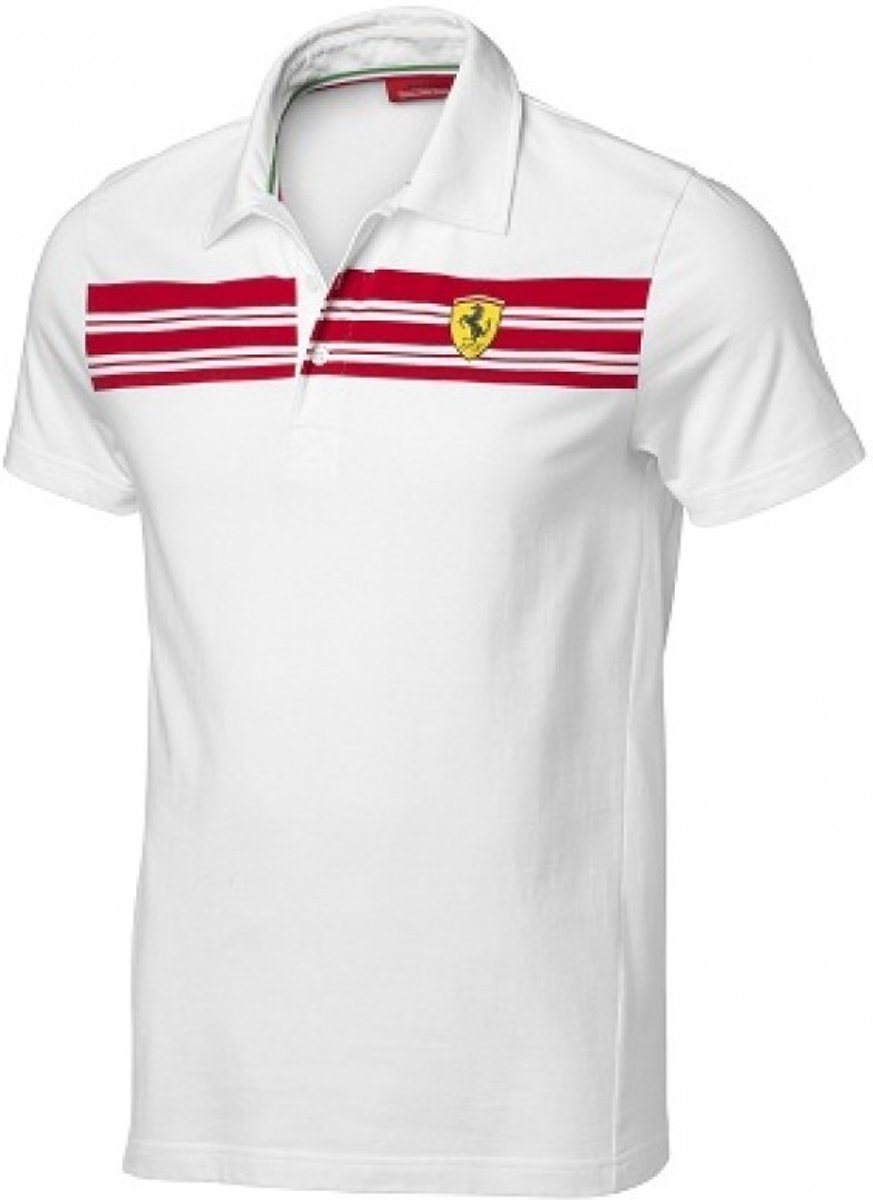 Ferrari Polo Heren Wit Maat S