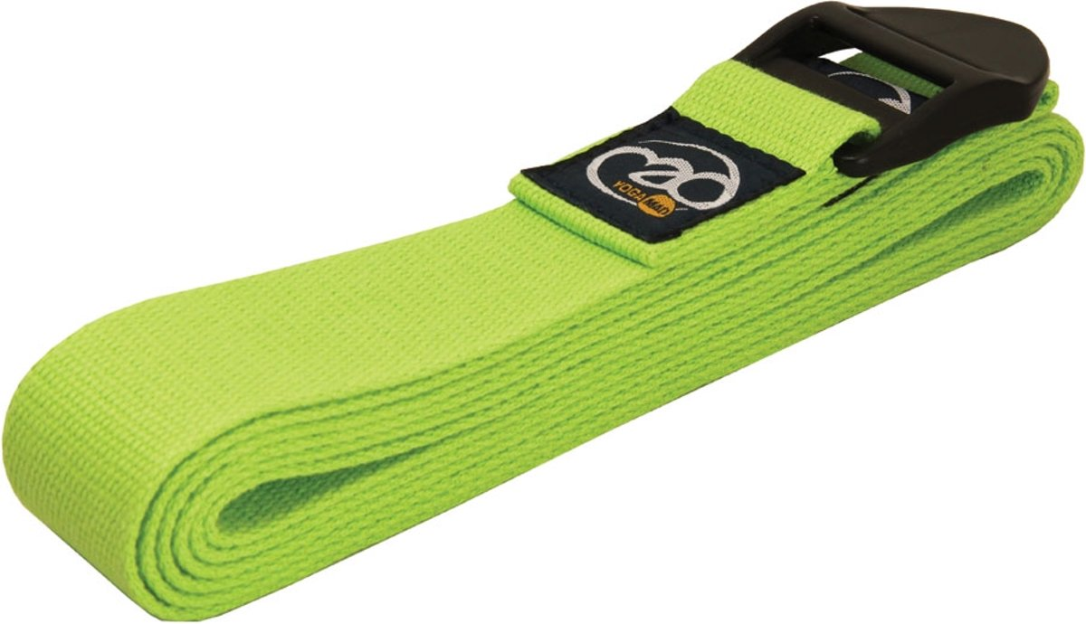 MADFitness - Yoga Belt Deluxe  - Katoen - Lengte 2 meter - Groen kopen