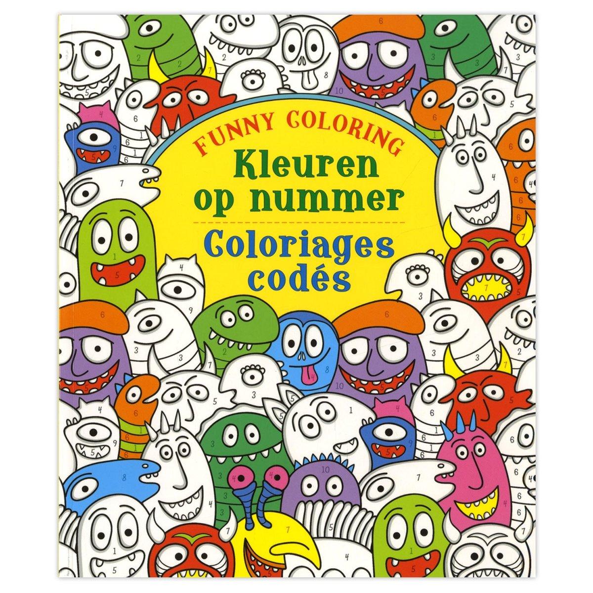 Kleuren op nummer; Funny coloring; Coloriage codes;