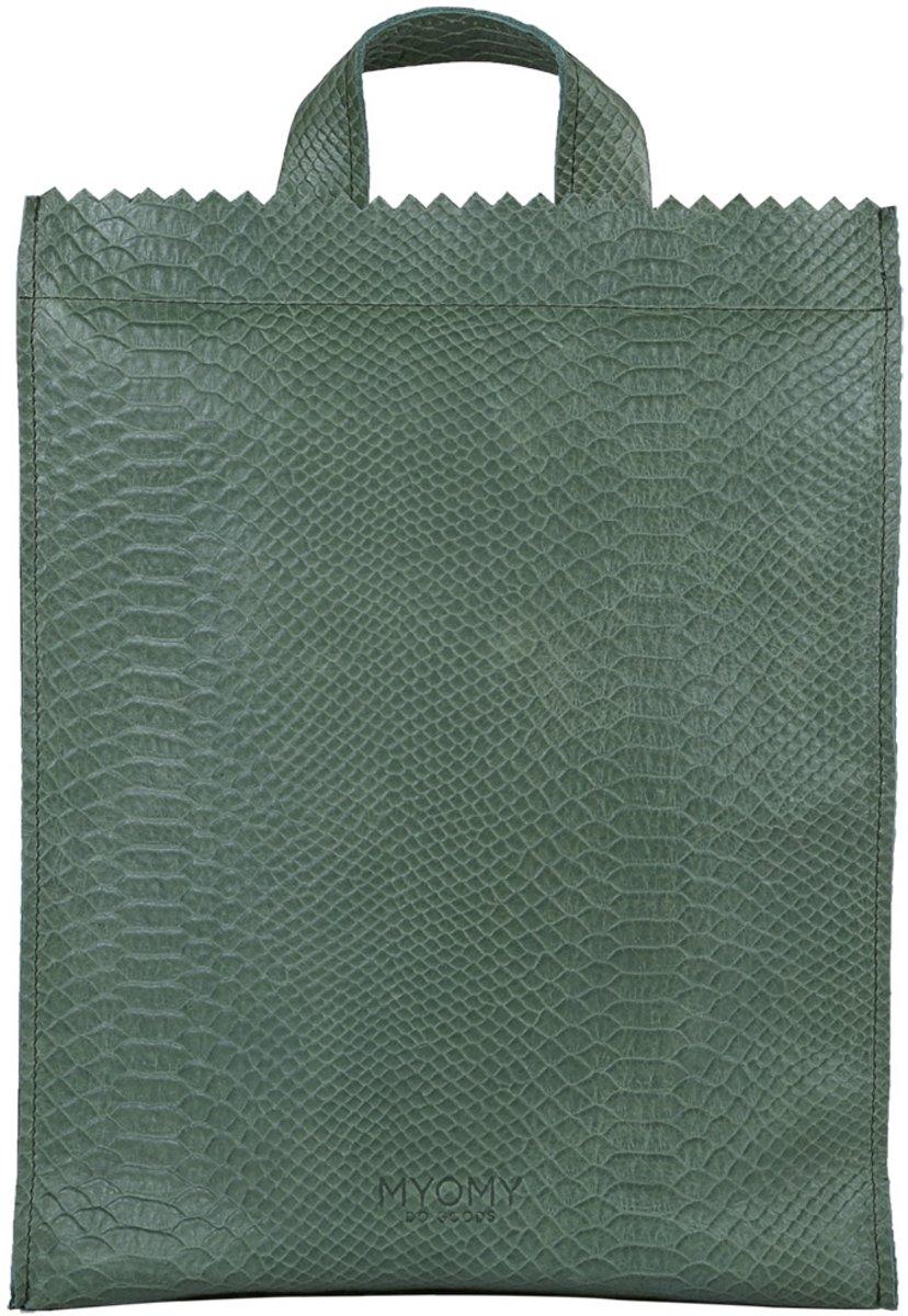 4466a1e6825 bol.com | MYOMY MY PAPER BAG Back Bag Rugzak Medium Anaconda Sea Green