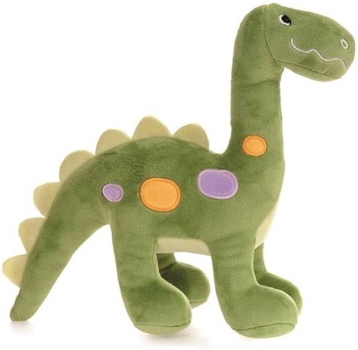 Afbeelding van product Pluche groene dinosaurus knuffel 27 cm - dinosaurus dino knuffels - Speelgoed voor baby/kinderen