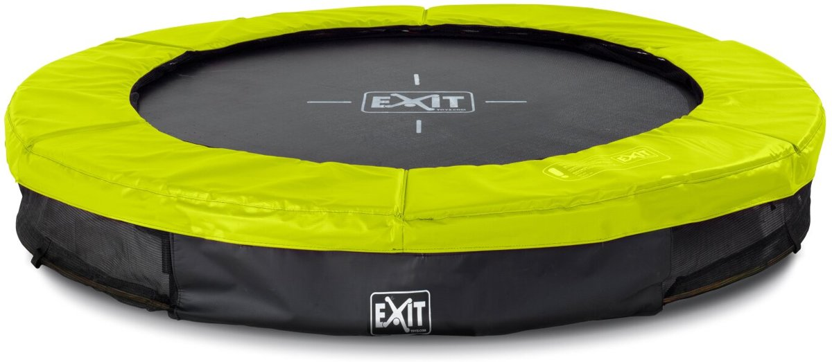 EXIT Silhouette inground trampoline ø183cm - groen