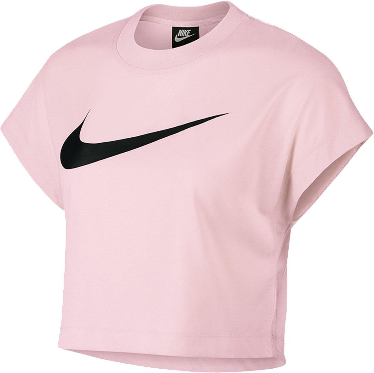 Nike Sportshirt - Maat M  - Vrouwen - roze/zwart kopen