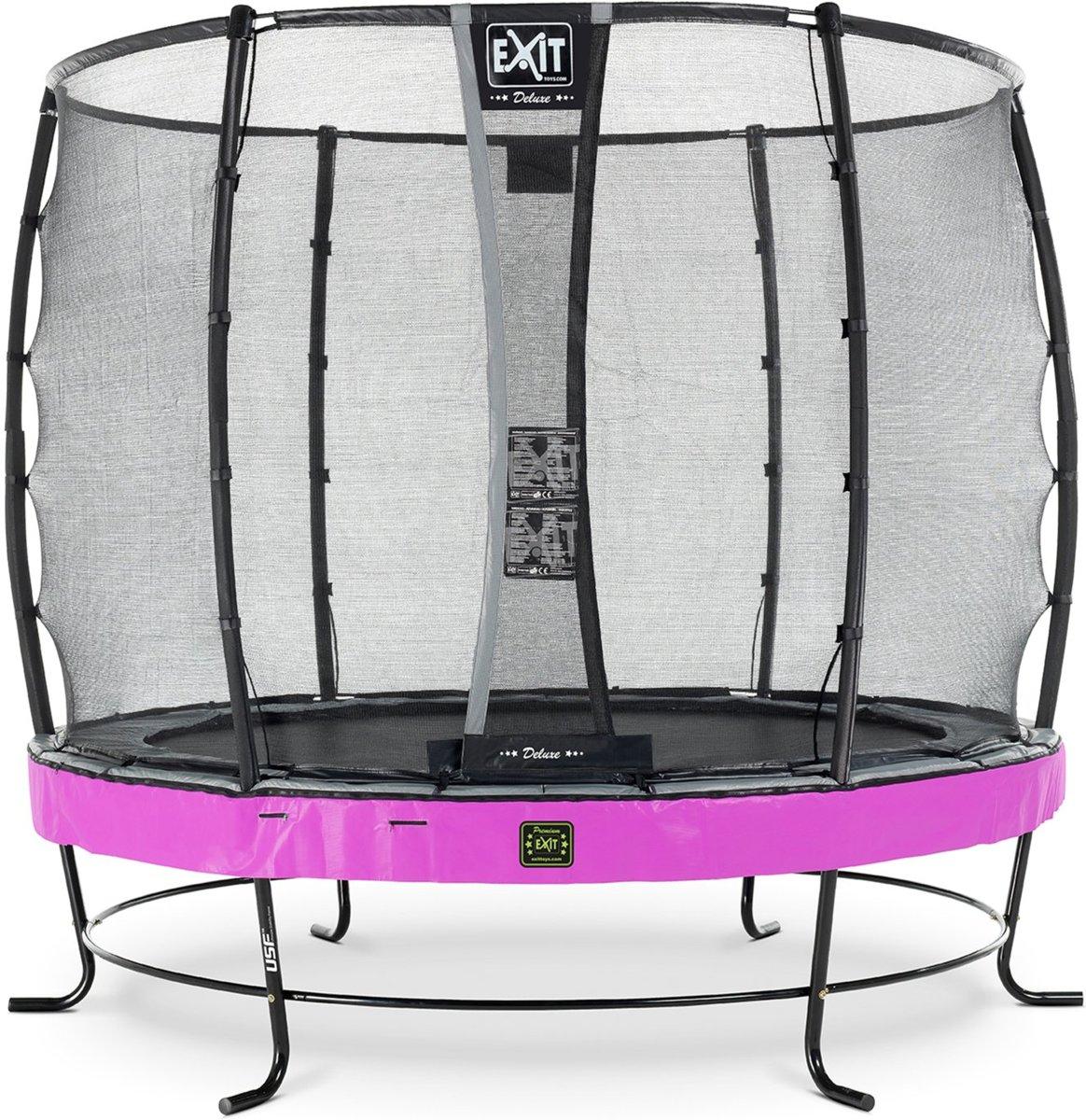 EXIT Elegant Premium trampoline ø253cm met veiligheidsnet Deluxe - paars