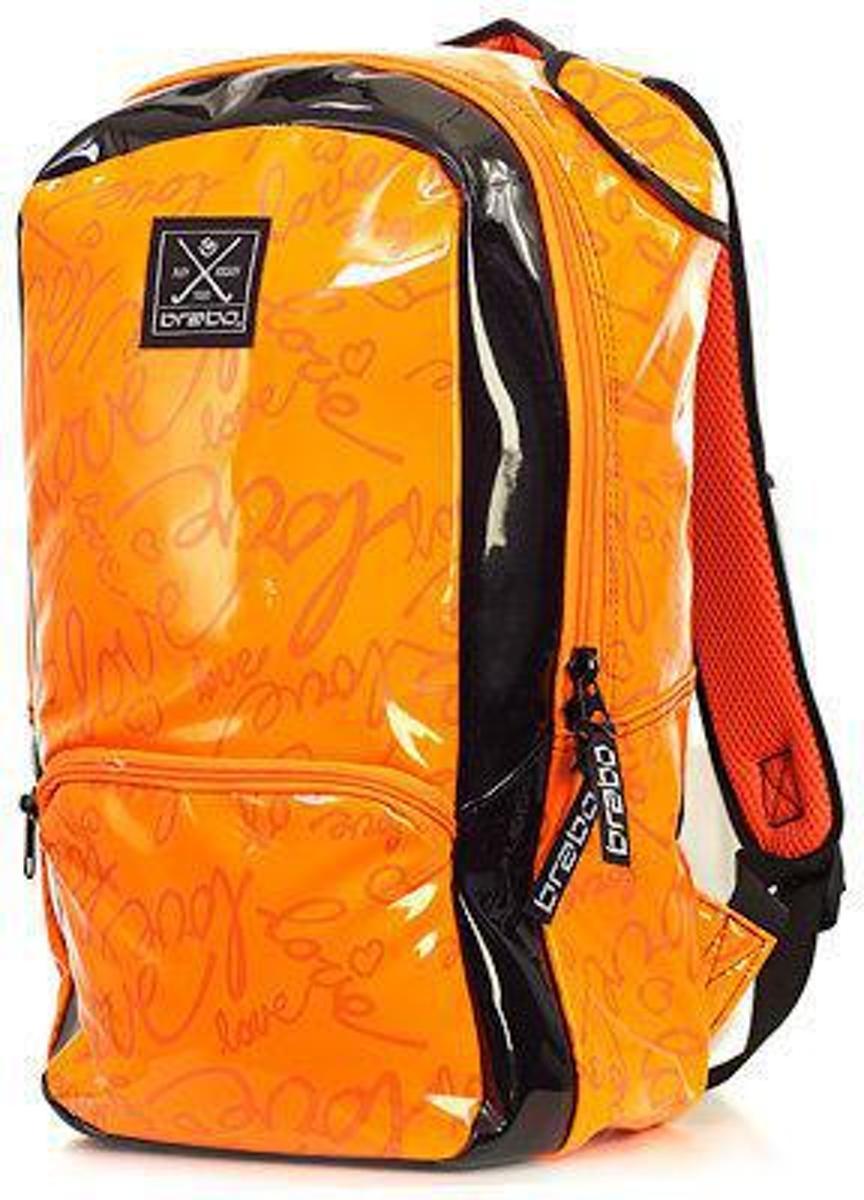 Brabo Backpack JR Love - Hockeystickrugzak - Kinderen - Oranje/ Zwart kopen