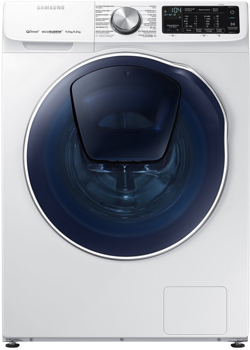 Samsung WD91N642OOW Vrijstaand Voorbelading A Zwart, Wit Was-droogcombinatie