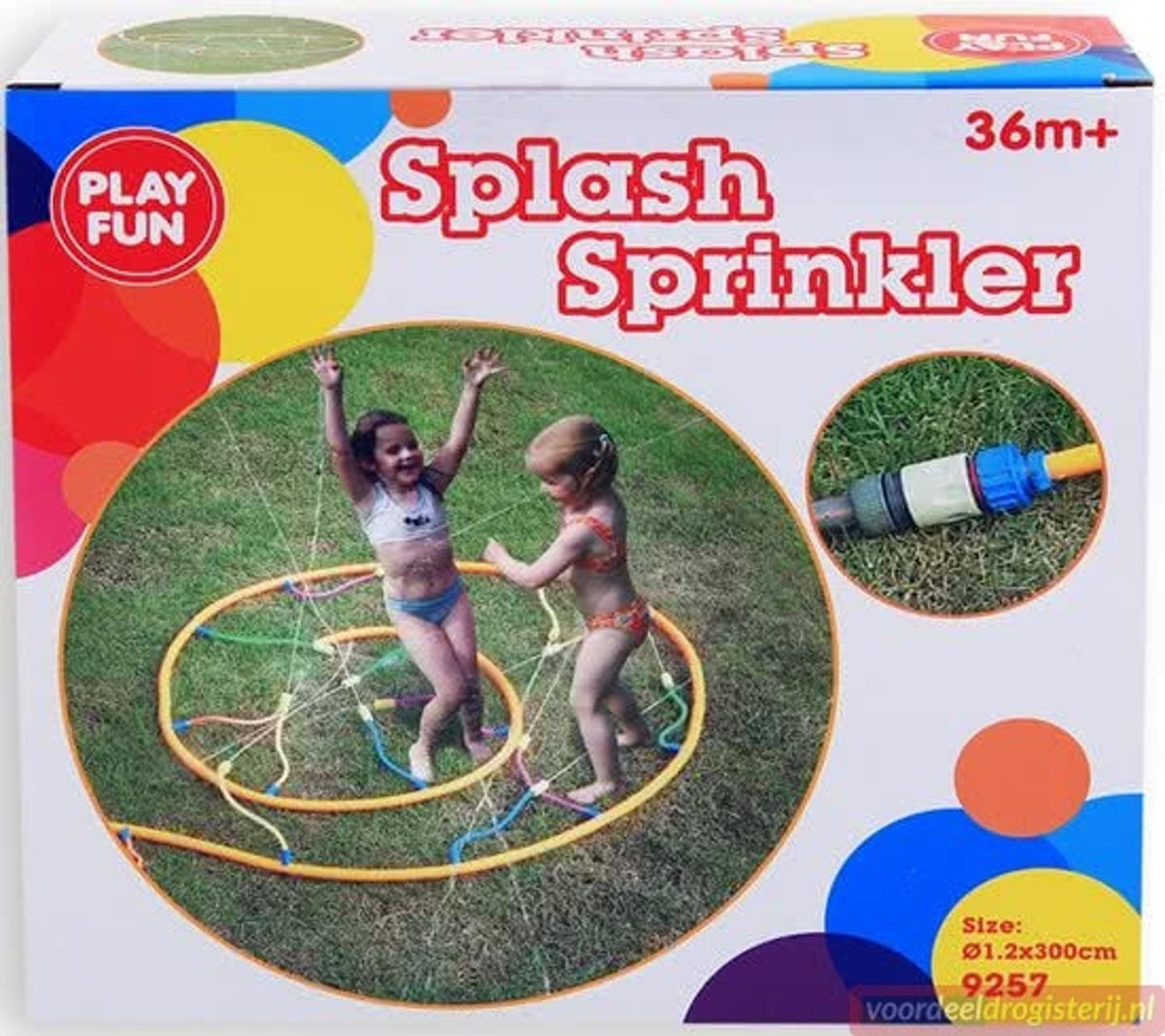 Playfun | Splash Water Sprinkler 3 meter ! spetter sproeier