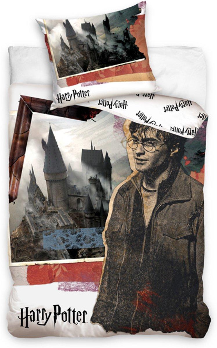 Harry Potter Zweinstein Dekbedovertrek - Eenpersoons - 140x200 cm - Wit kopen