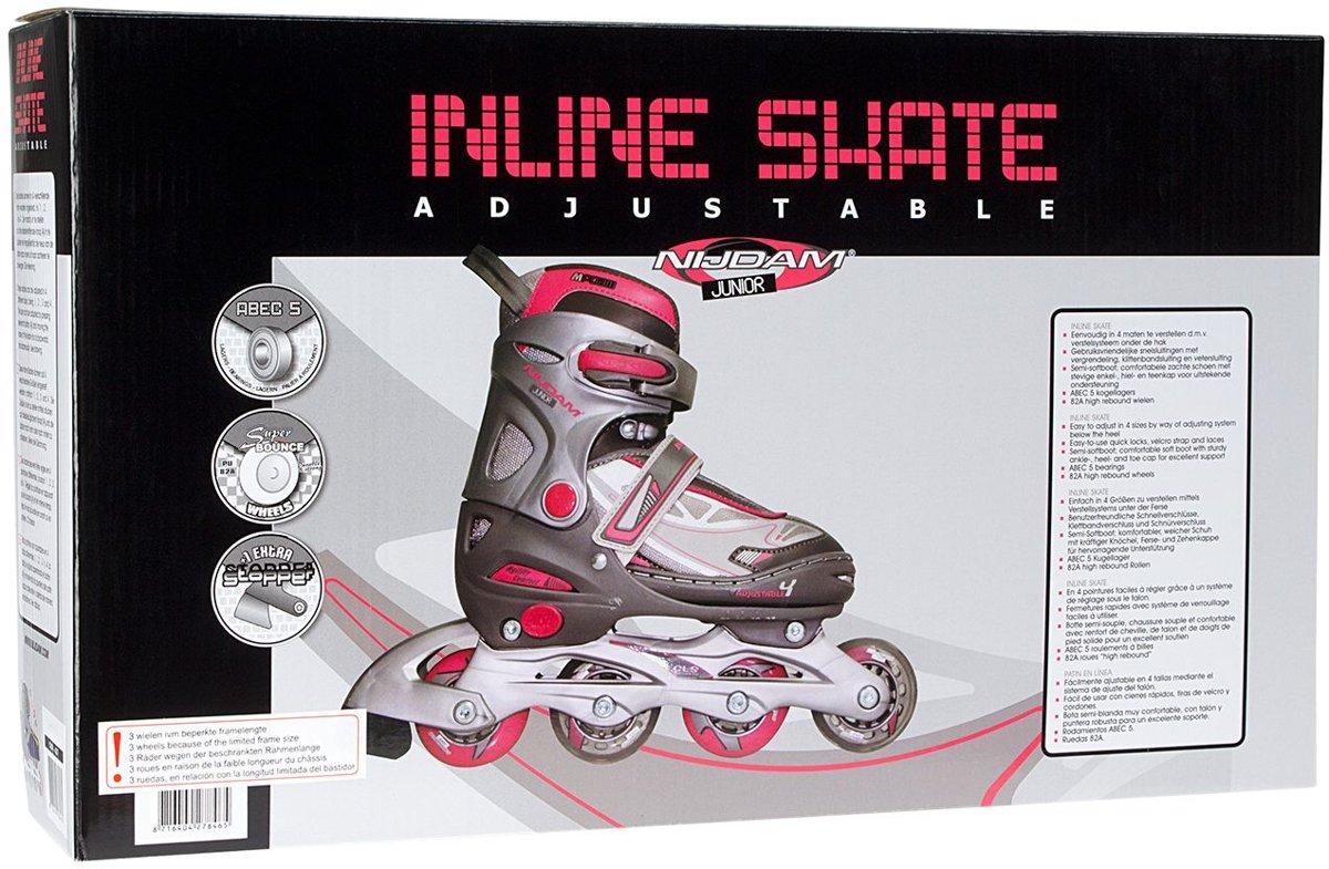 2438efddbb0 bol.com   Nijdam Junior Inlineskates Junior Verstelbaar - Semi-Softboot -.