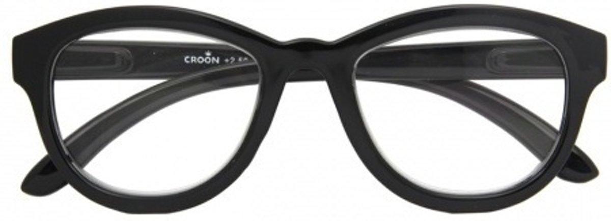 Croon Leesbril Madonna Dames Zwart Sterkte +1.5 kopen