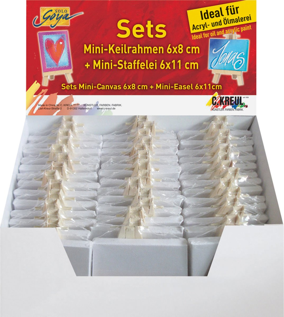 Solo Goya mini canvas op mini ezel 36 stuks set
