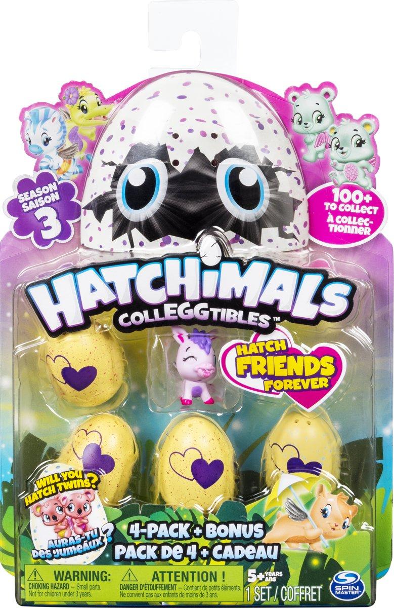 Hatchimals Colleggtibles 4 Pack + Bonus - Seizoen 3