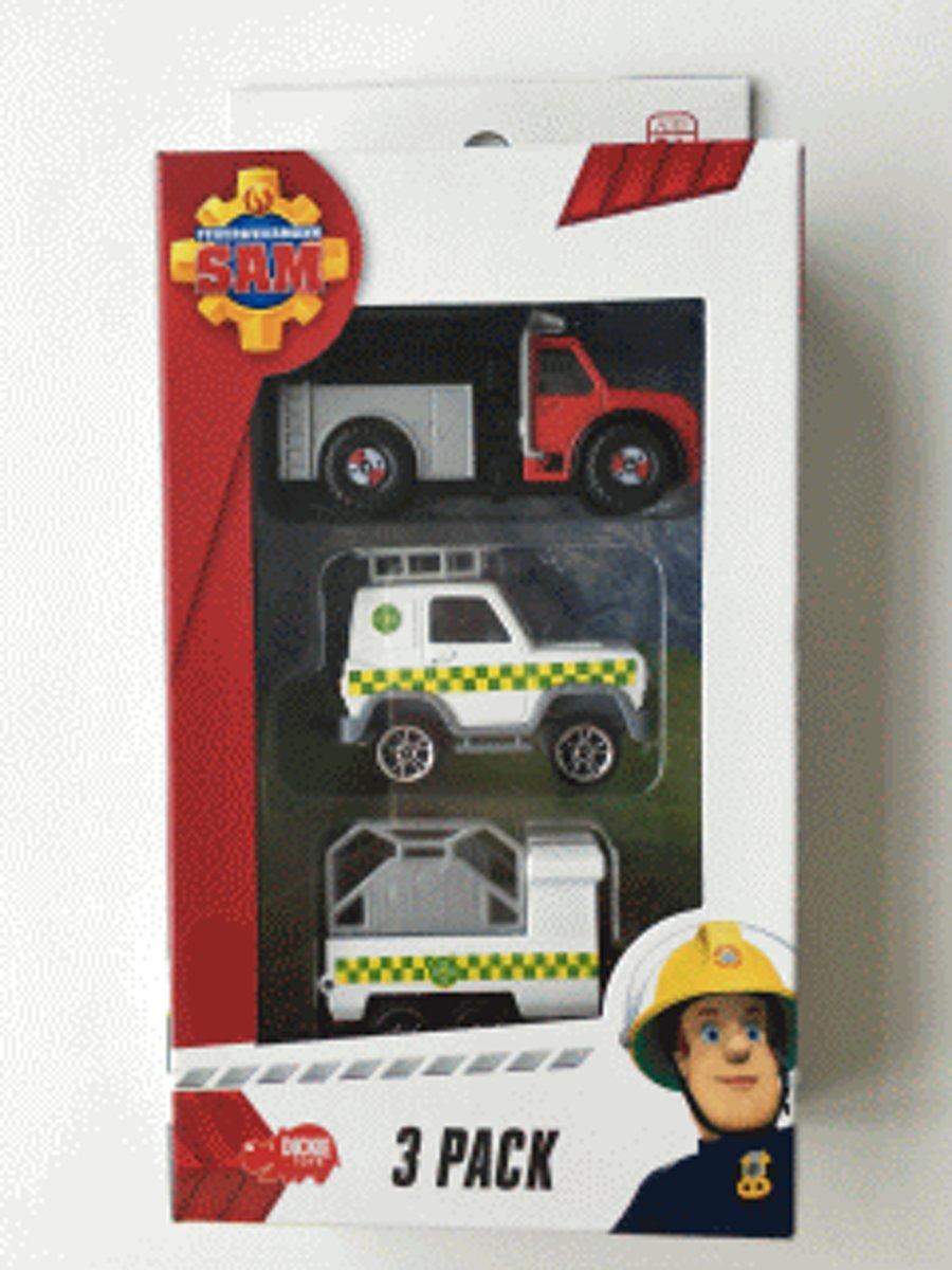 Brandweerman Sam Voertuig 3-pack - Brandweerman Sam Auto