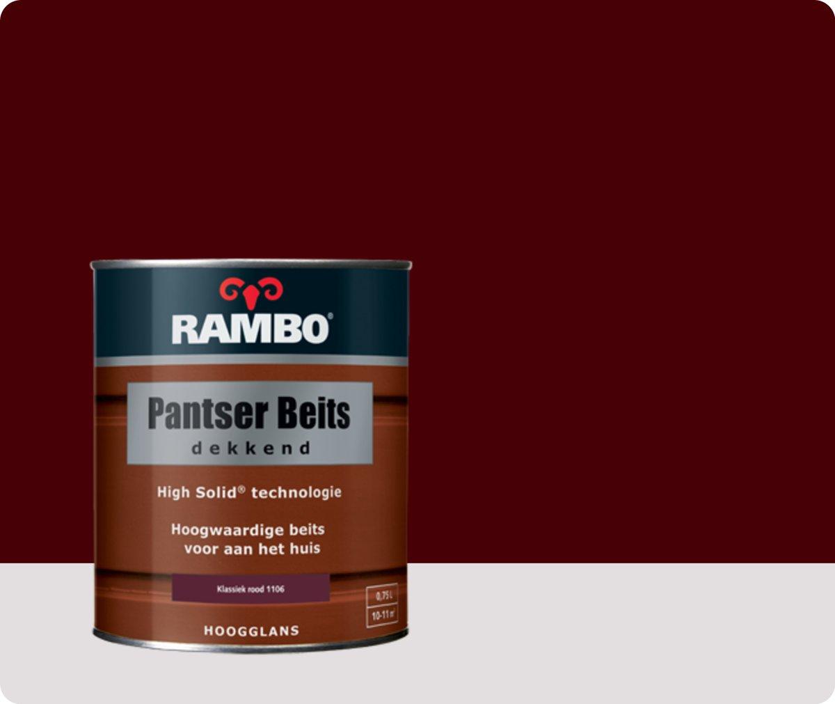 Rambo Pantser Beits Dekkend - 0,75 liter - Klassiekrood