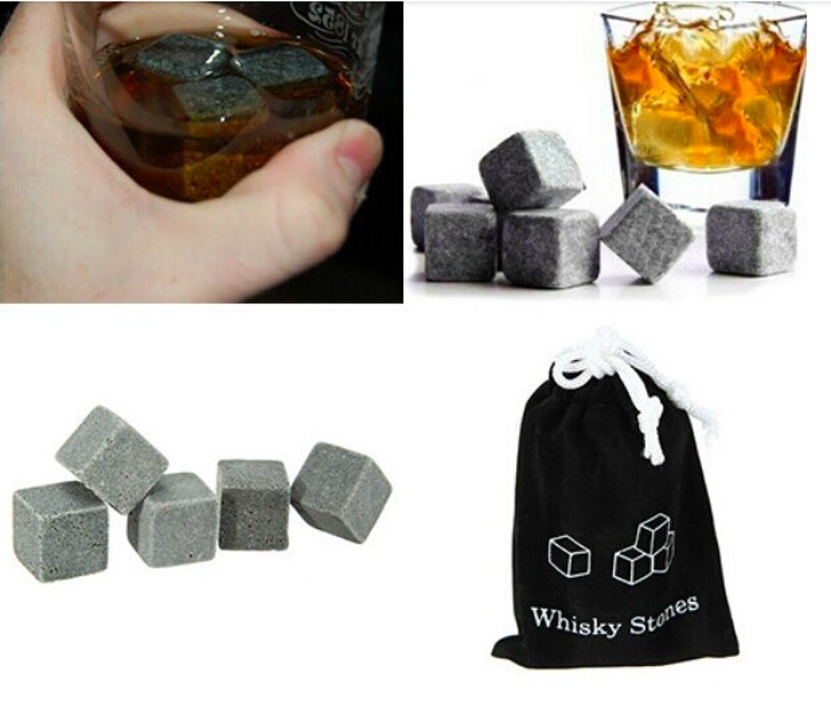 Whiskey stones Ijsblokjes - 1.8 cm - 9 stuks kopen