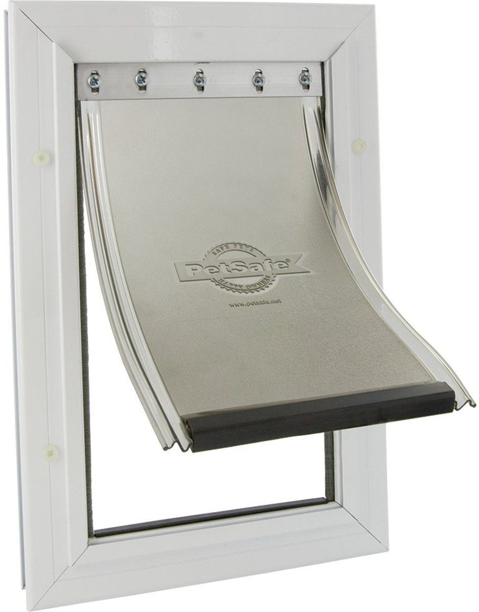 Staywell 640 Hondenluik - Tot 45 kg - Aluminium - Wit kopen