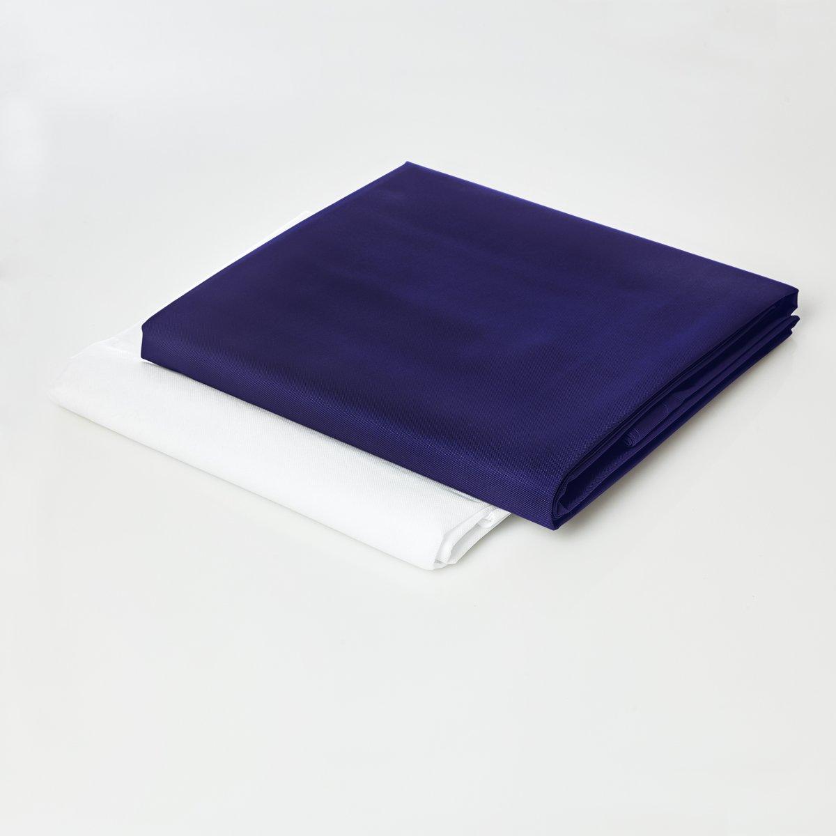 Lumaland - Hoes van luxe XXL zitzak - enkel de hoes zonder vulling - Volume 380 liter - 140 x 180 cm - gemaakt van PVC / Polyester - Donkerblauw kopen