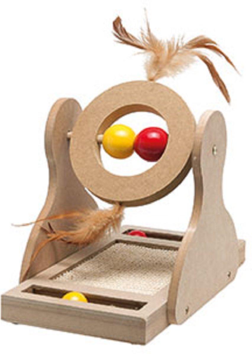 Karlie Flamingo Tumbler Krabspeelgoed - 30 cm - Hout