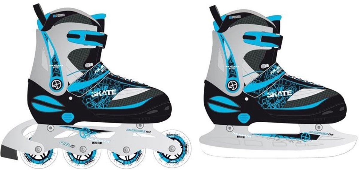 41eeb9b2b8e bol.com | Nijdam Skate/schaats Combo Junior Zwart/blauw Maat 35-38