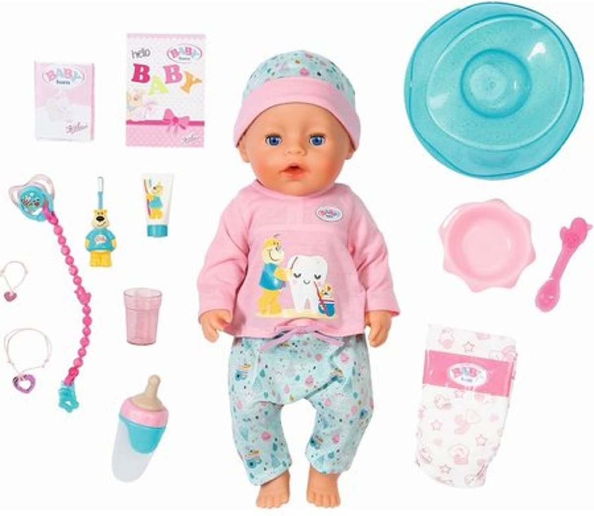 BABY born® Soft Touch Bath Toothcare Girl