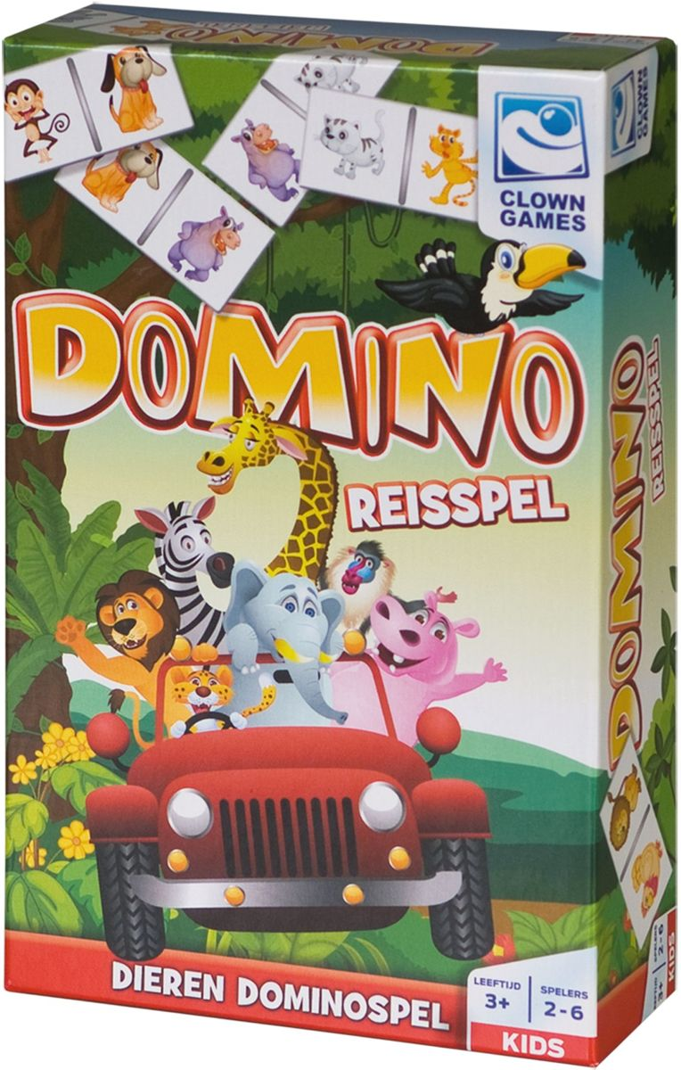 Clown Games Domino Reisspel 28-delig kopen