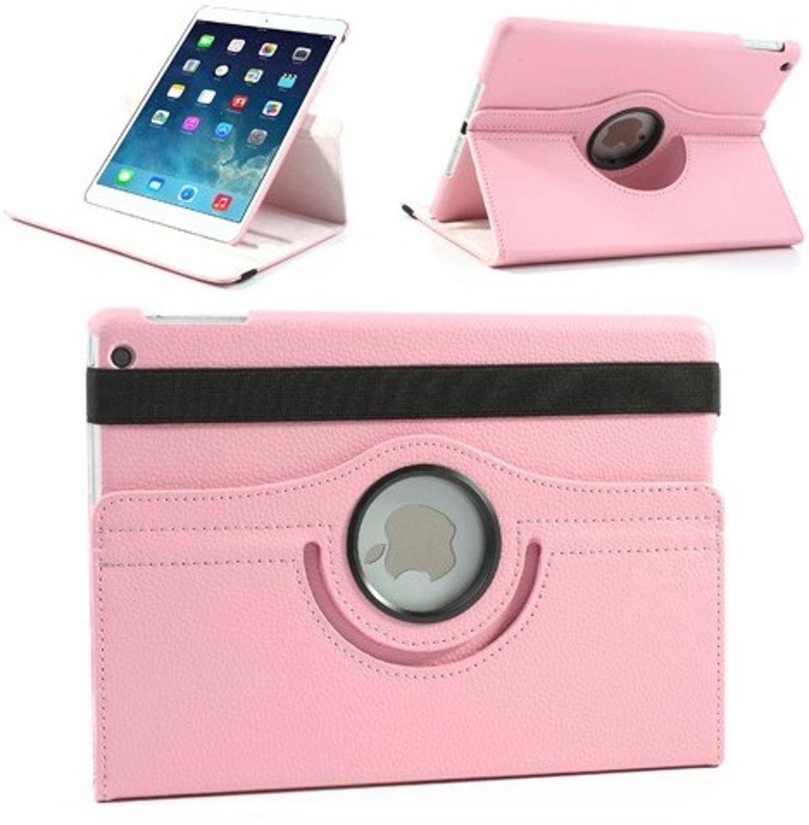 Image of Apple iPad Pro 12.9 inch - 360- draaibare Hoes - Lederen - Licht Roze (8719831400645)