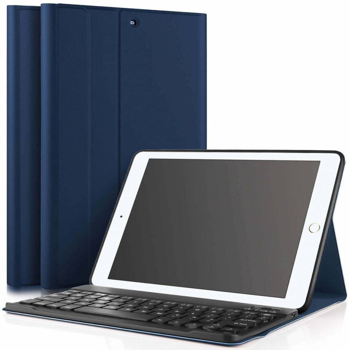 iPad 2018 hoes met afneembaar toetsenbord blauw kopen