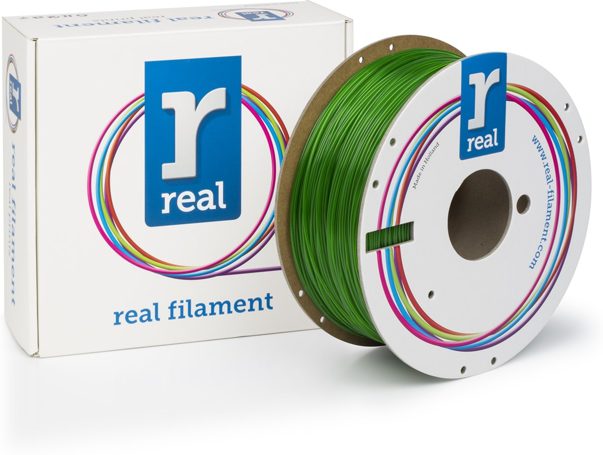 REAL Filament PETG transparant groen 1.75mm (1kg)