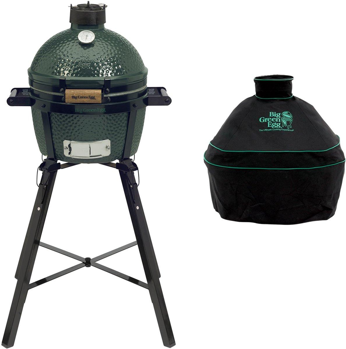 Big Green Egg Minimax Houtskoolbarbecue met Portable Nest en Hoes kopen
