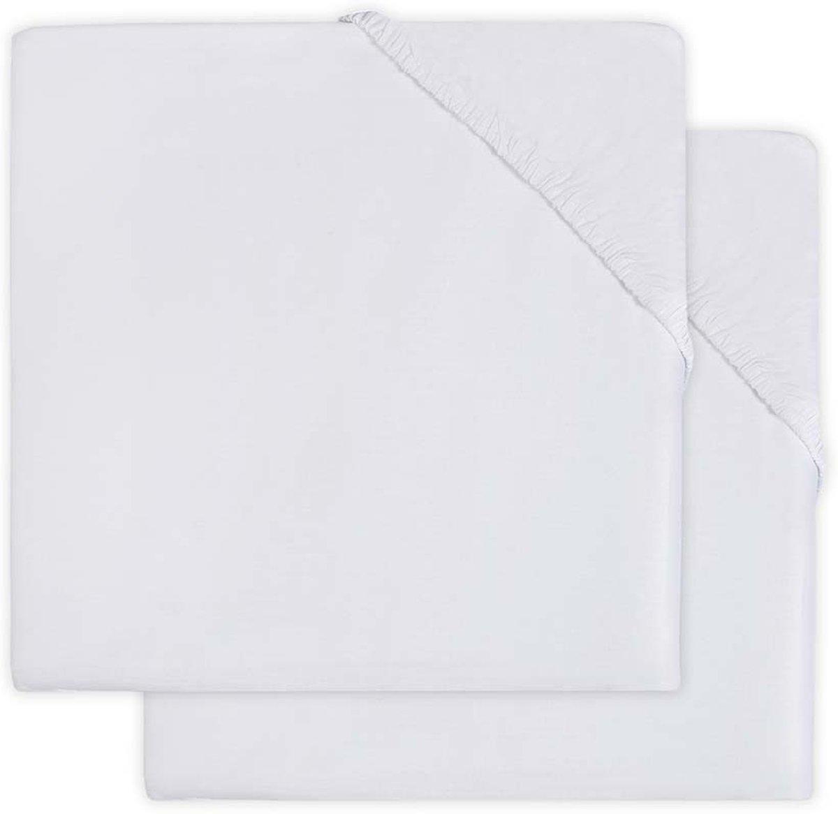 Jollein Hoeslaken jersey boxmatras  75x95cm white (2pack)