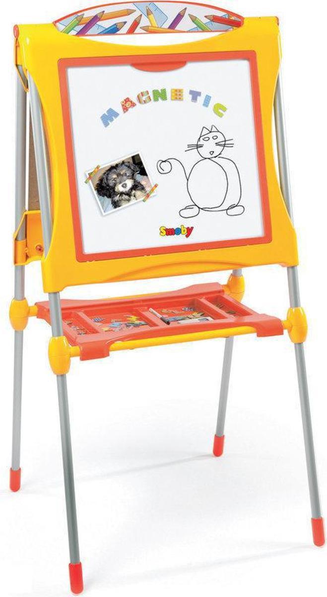 Groot schoolbord met toebehoren