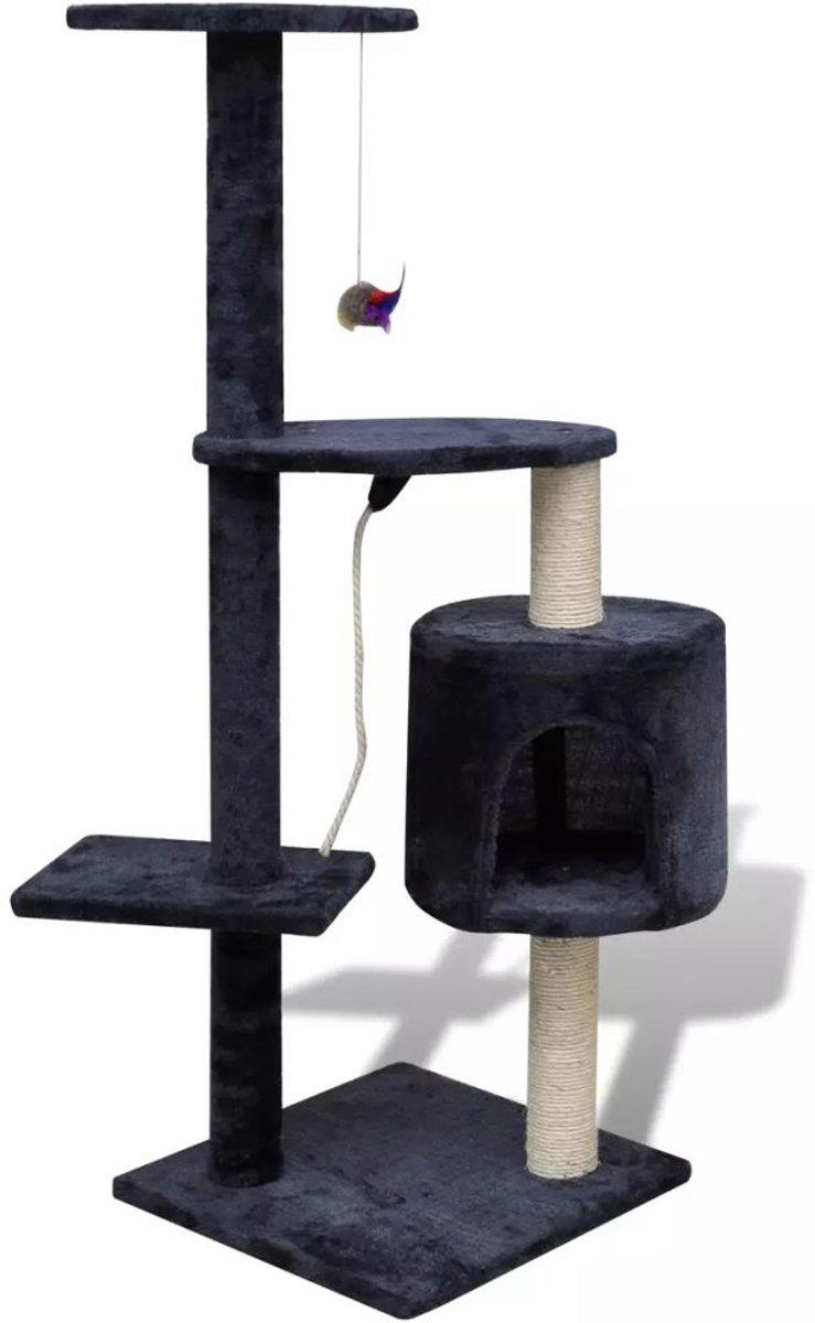 Krabpaal Tommie - 114 cm 1 huisje donker- Blauw