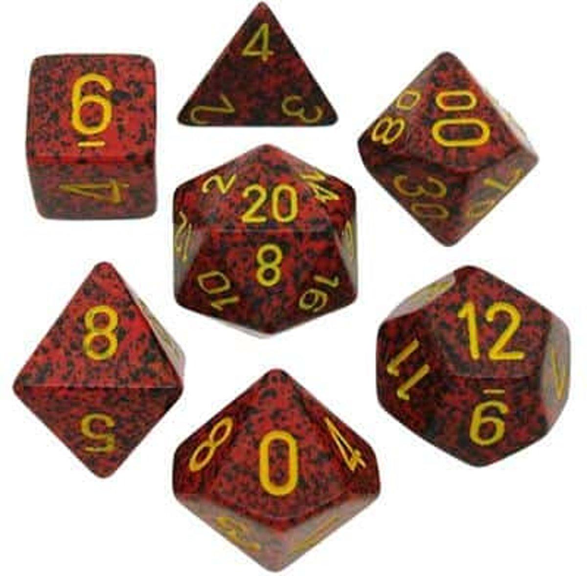 Chessex dobbelstenen set, 7 polydice, Speckled Mercury