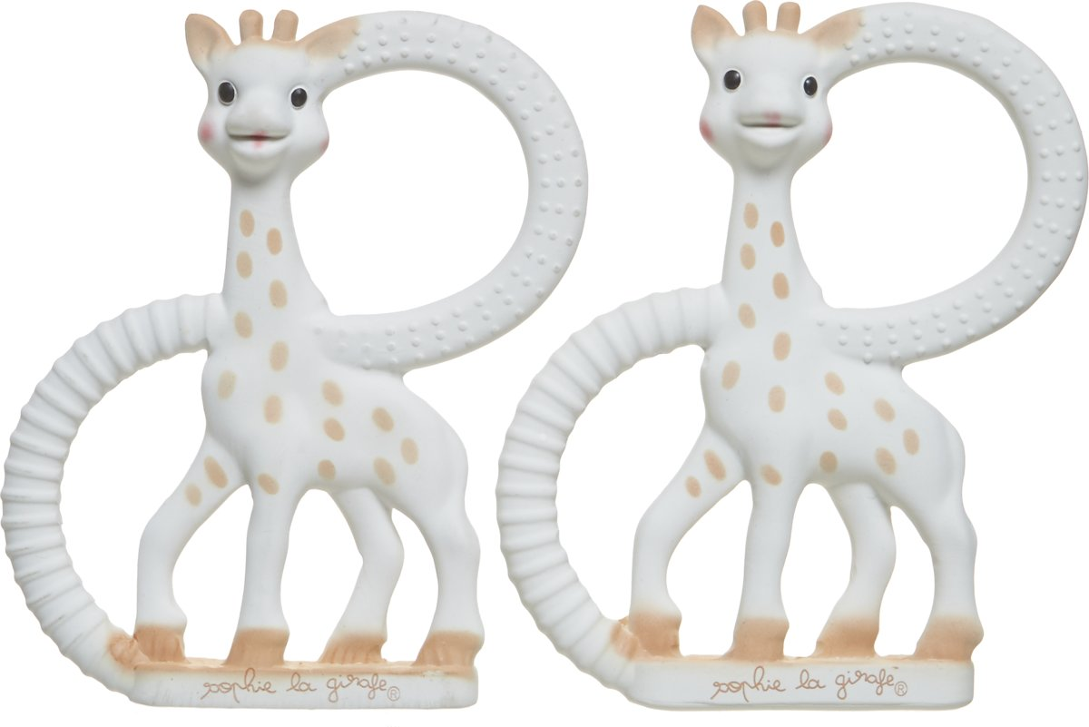 Sophie de Giraf - So'PURE bijtringen van 100% natuurlijke rubber - Set van 2 stuks