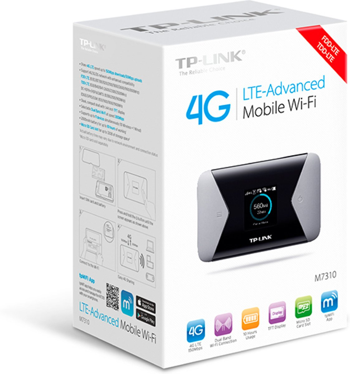Tp Link M7310 Mifi Router M7350 4g Lte Advanced Mobile Wifi