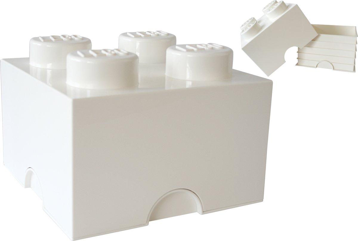 Lego Storage Brick 4 - 25 cm x 25 cm x 18 cm - Wit kopen