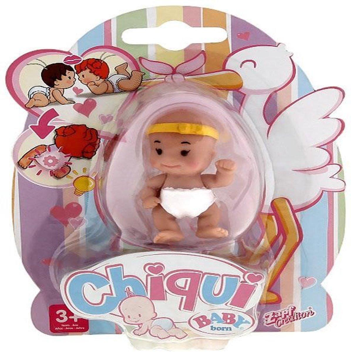 Chiqui Baby Born Vrolijke Baby, paars haar