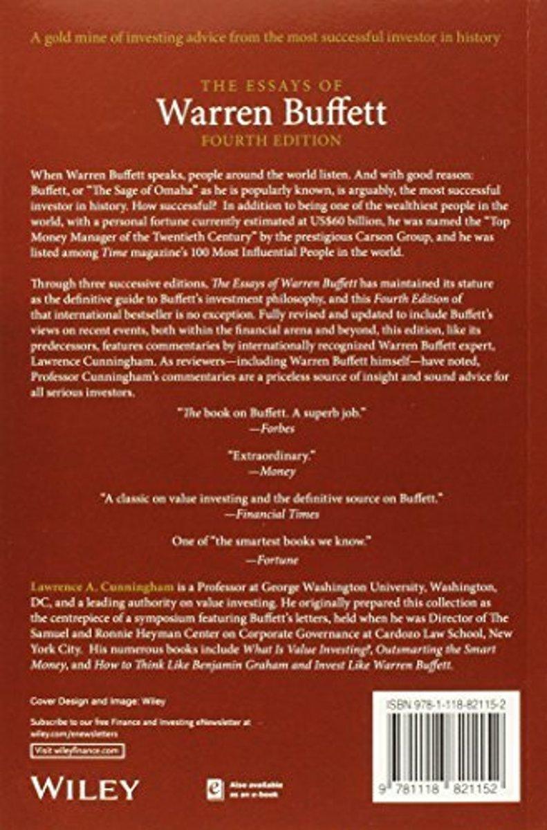 The Essays Of Warren Buffett Ebook