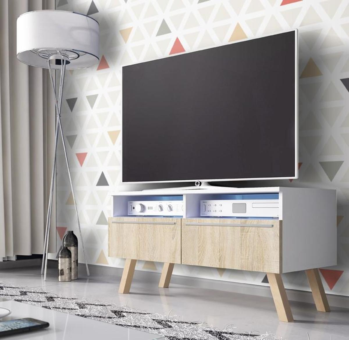 Tv Kast Dressoir.Top Honderd Tv Kast Dressoir Siena Met Led Verlichting Wit Licht