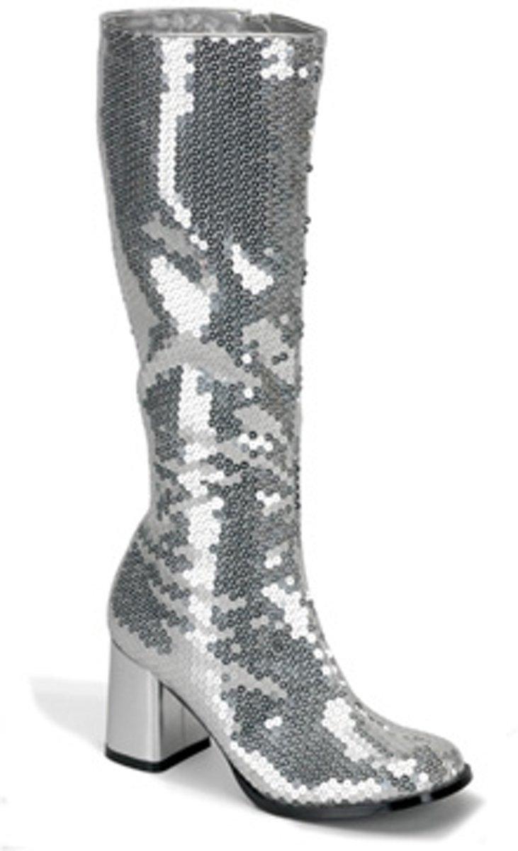 Spectacular-300SQ Silver sequins - (EU 37  US 7) - Bordello