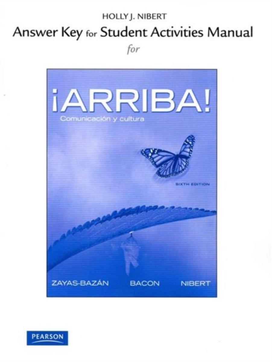bol.com   Answer Key for the Student Activities Manual for !Arriba!    9780205017546   Eduardo.