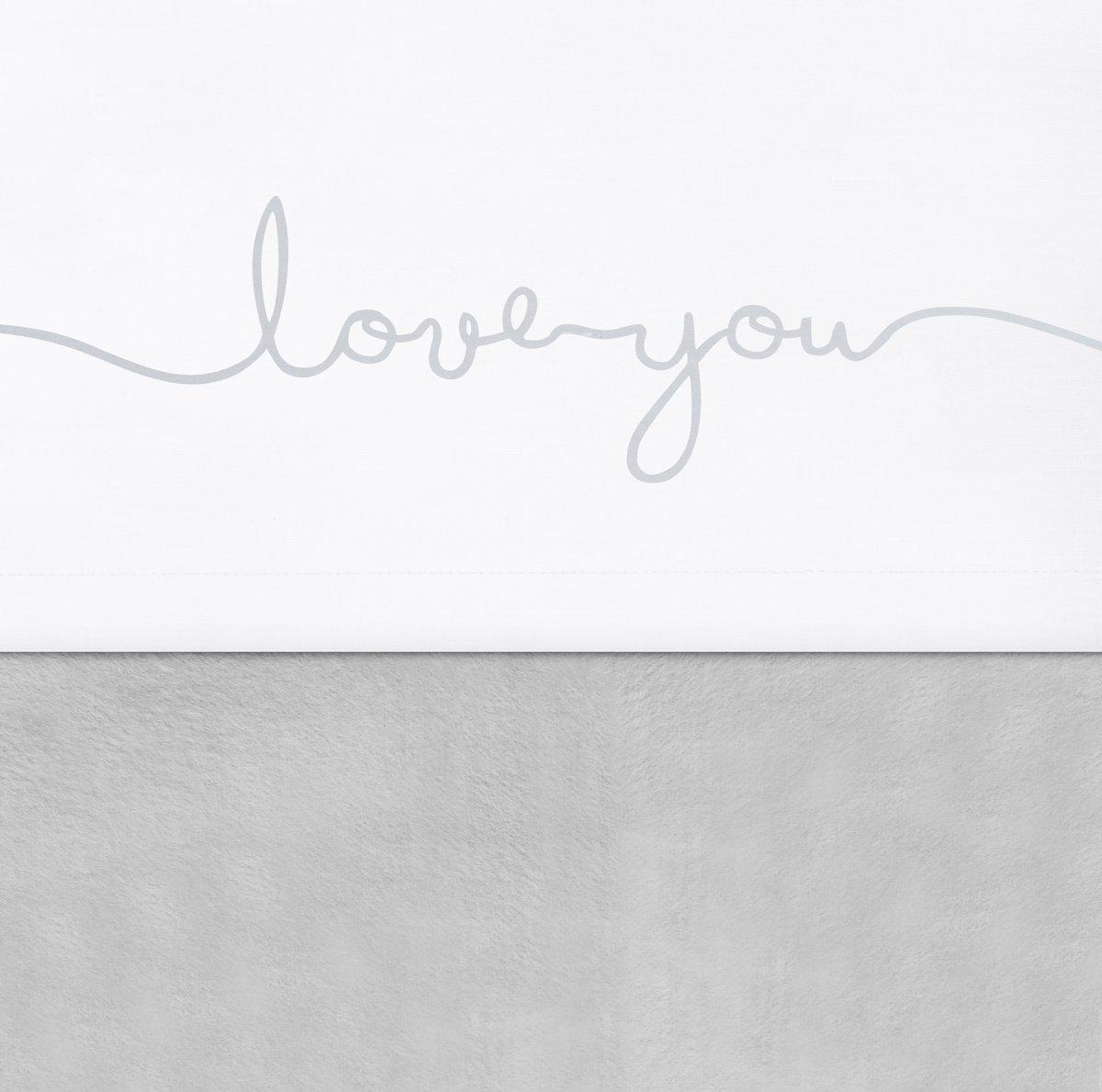 Jollein Love you Laken 75x100cm grijs
