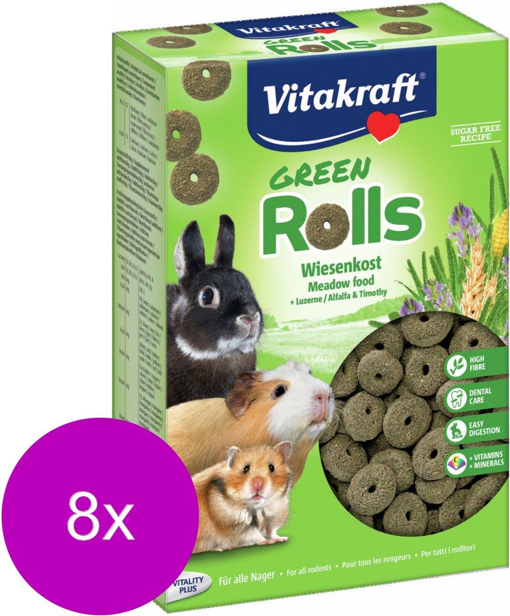 Vitakraft Groen Rollies - Knaagdiersnack - 8 x 300 g