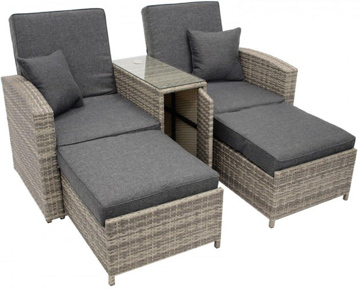 Goedkope Loungeset Tuin : Tuin lounge beautiful lounge set rattan nebraska lounge set