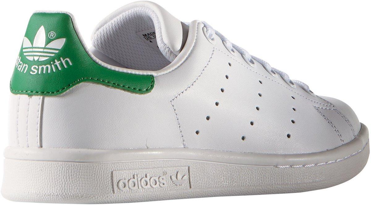 4864d715d31 bol.com | Adidas Meisjes Sneakers Stan Smith J - Wit - Maat 37⅓