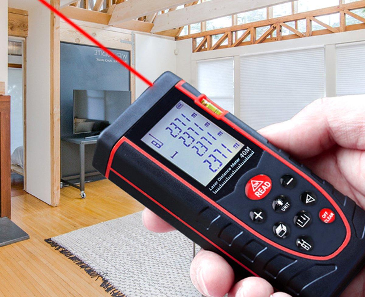 Camenco digitale laser afstandsmeter 40 meter - Stof- en spatwaterdicht
