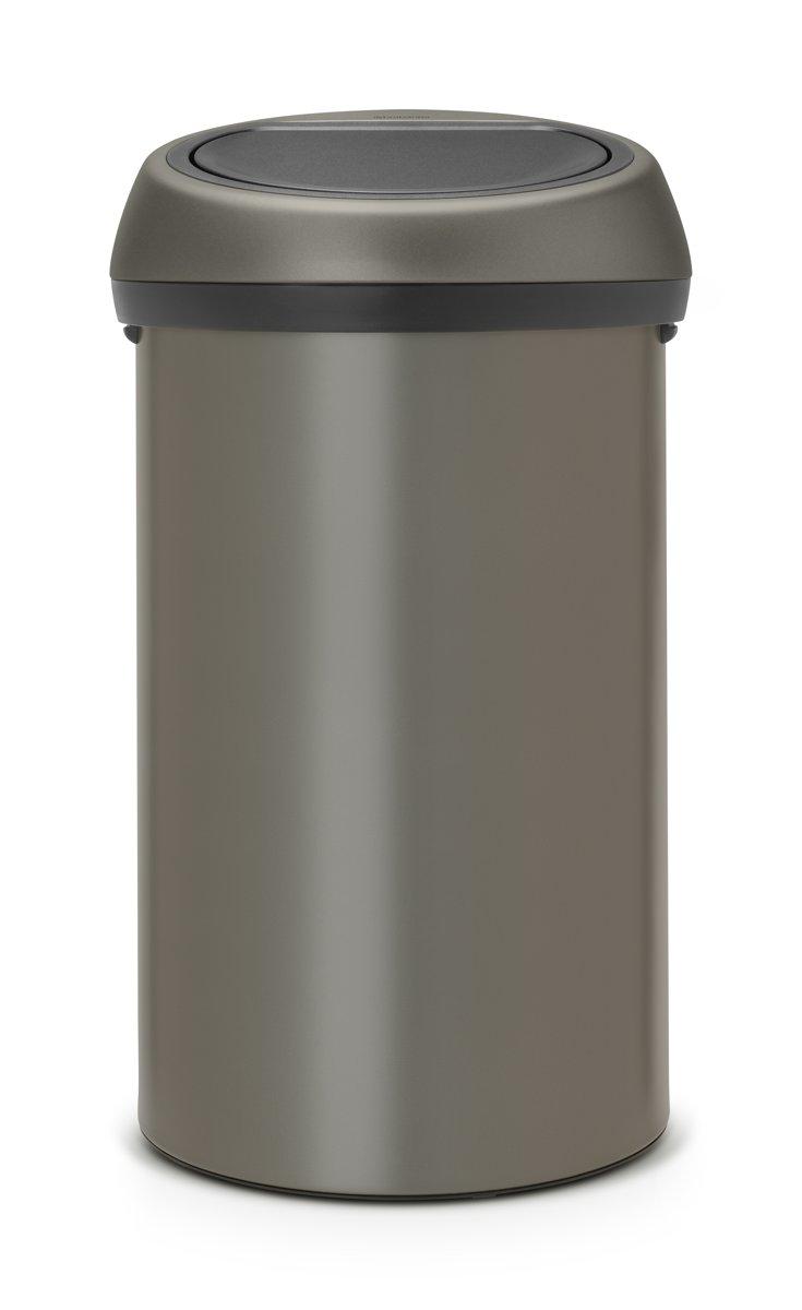 Brabantia Touch Bin 50 Liter Zwart.Brabantia Touch Bin Prullenbak 60 L Platinum