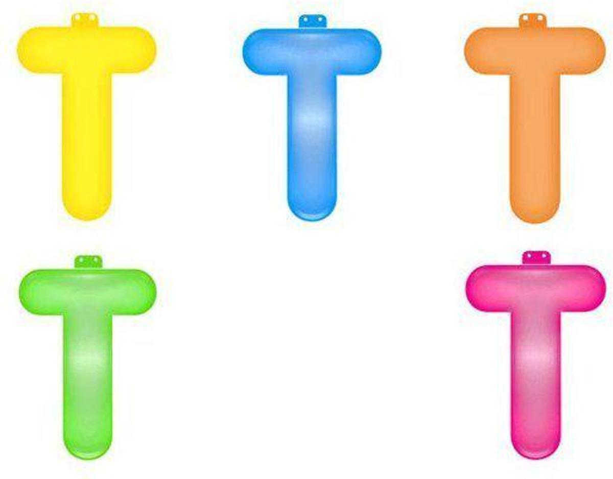 Opblaas letter T  Roze kopen
